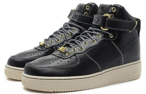 "Air Force 1 HIGH Premium LE ""Black"" Nike"