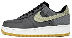 "Air Force 1 Anthracite Bamboo ""Black/Gum/Light/Brown"" Nike"
