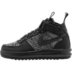 Lunar Force 1 Flyknit Workboot (All Black) Nike