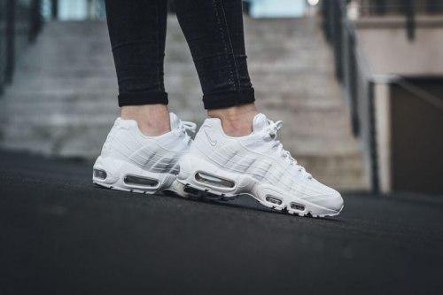 Air Max 95 Leather Triple White Nike