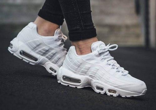 Air Max 95 Leather Triple White Women Nike