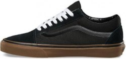 Кеды Old Skool All Black Gum V a n s