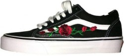Кеды Old Skool Roses Black V a n s