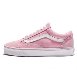 Old Skool pink white Vans