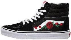 SK-8 Roses Black Women V a n s