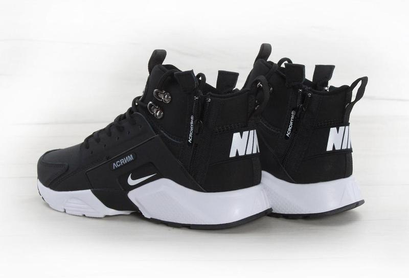 90d66c55 ᐉ Купить кроссовки Huarache X Acronym City MID Leather Black/White ...