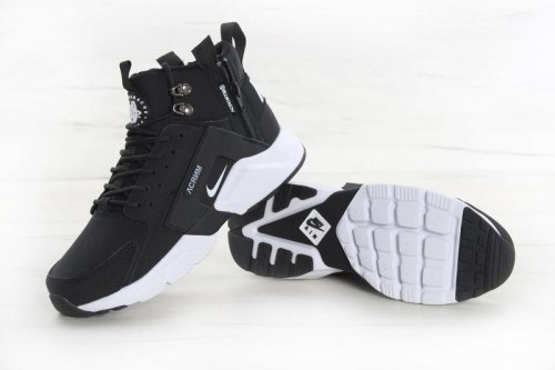 Huarache X Acronym City MID Leather Black/White Nike