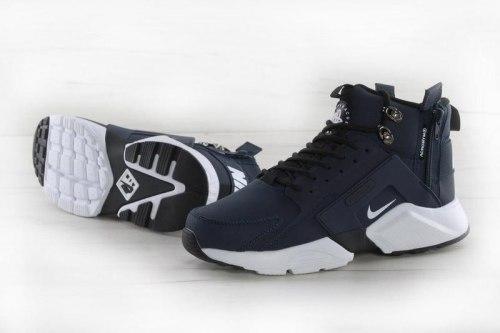 Huarache X Acronym City MID Leather Navy/White Nike