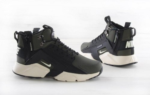"Huarache X Acronym City MID Leather ""Haki Black"" Nike"