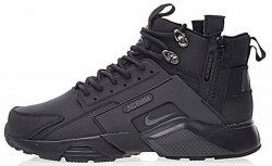 "Huarache X Acronym City MID Leather ""All Black"" Nike"