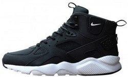 Air Huarache High Top Black White Nike