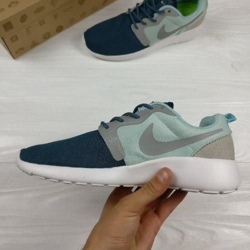 Roshe Run Grey/White/Blue Nike