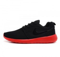 Roshe Run Black/Red Women Nike