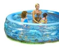 Хрустальный надувной бассейн Delux