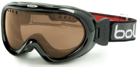 Маска горнолыжная Bolle Nebula 20433 Shiny Black Polarized Brown