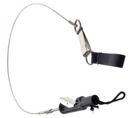Кукан с металлической защелкой трос-веревка