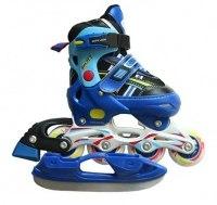 Роликовые коньки с ледовыми лезвиями Amigo Sport ICE-COMBO