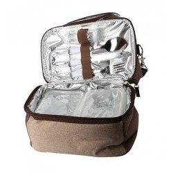 """Обеденная сумка-холод. """"Арктика"""" с набором посуды, 4000-1 ,кофейная,4л"""