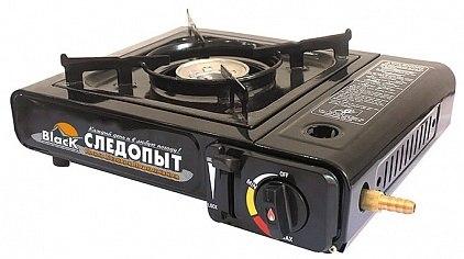 Плита настольная газовая с переходником Следопыт Black PF-GST-N10
