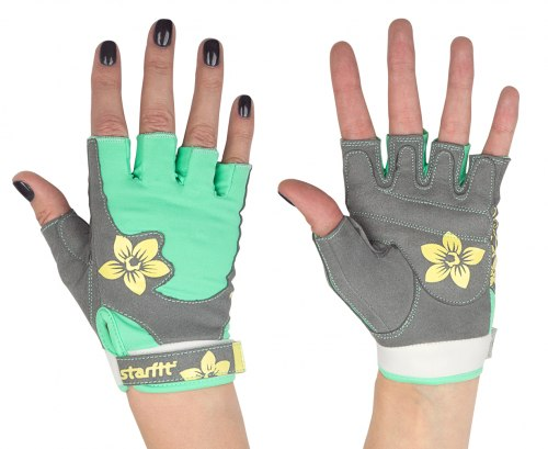 Женские перчатки для фитнеса с рисунком StarFit SU-112