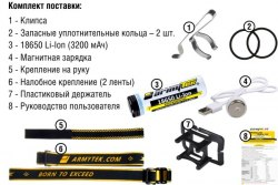 Фонарь Armytek Wizard Pro Magnet USB теплый свет