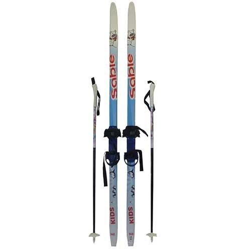Детский комплект: лыжи, палки, крепления, р. 140