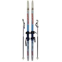 Детский комплект: лыжи, палки, крепления, р. 130