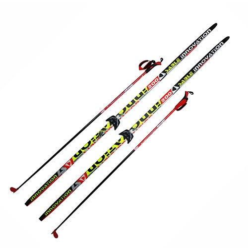 Лыжи с креплениями и палками Step