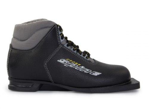 Ботинки лыжные 75 мм натуральная кожа Spine Cross
