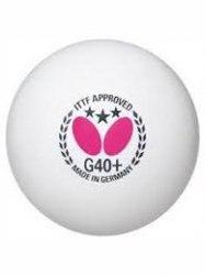 Мяч н/т G40+ poly BUTTERFLY 7010250140