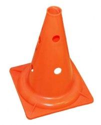 Конус разметочный оранжевый 35 см с отверстиями