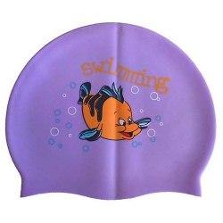 Шапочка для плавания силиконовая с рисунком