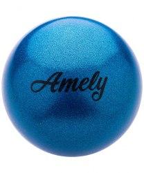 Мяч для художественной гимнастики 19 см,с насыщенными блестками AGB-103