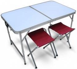 Набор кемпинговый стол, 4 стула