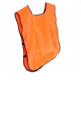Манишка тренировочная односторонняя , оранжевая , лимонная