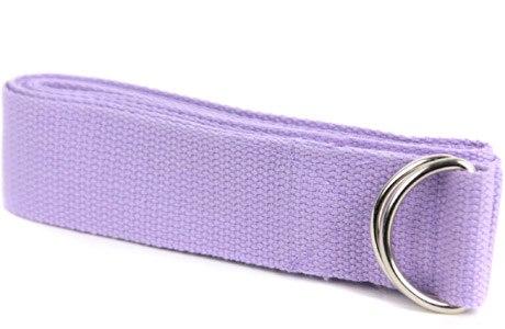 Ремень для йоги (фиолетовый) YG02-B-PU