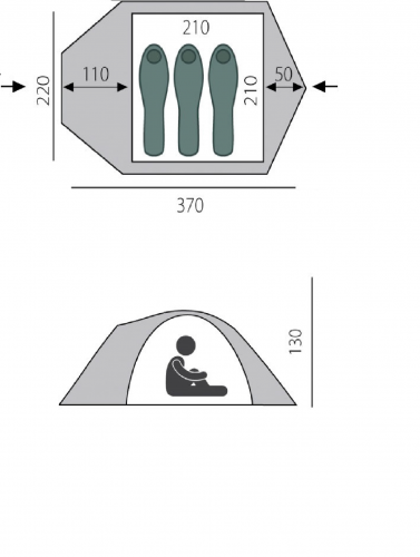 Палатка Challenge BTrace 2, 3, 4 местная