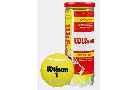Мячи теннисные Wilson Championship Extra Duty (3 шт. в упак.) WRT100101