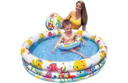 "Бассейн + круг + мяч INTEX ""Fishbowl pool set"" 59469"