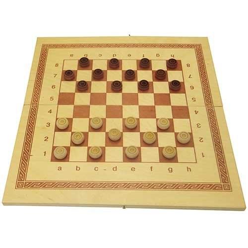 Игра 2 в 1 дерево: нарды, шашки ES-0499