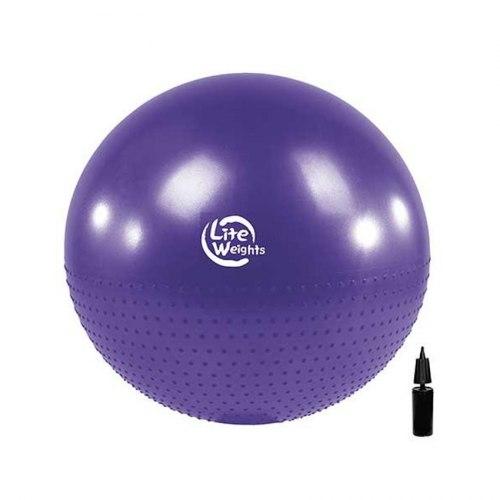 Мяч гимнастический + массажный BB010-30 (75см, с насосом, фиолетовый)