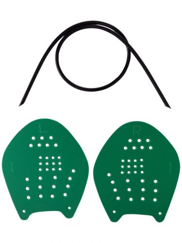 "Лопатка для плавания "" Longsail Target"" (L ; зеленые )"