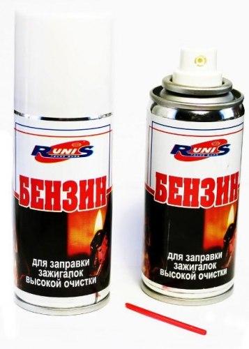 Бензин для зажигалок высокой очистки RUNIS 140мл аэрозоль