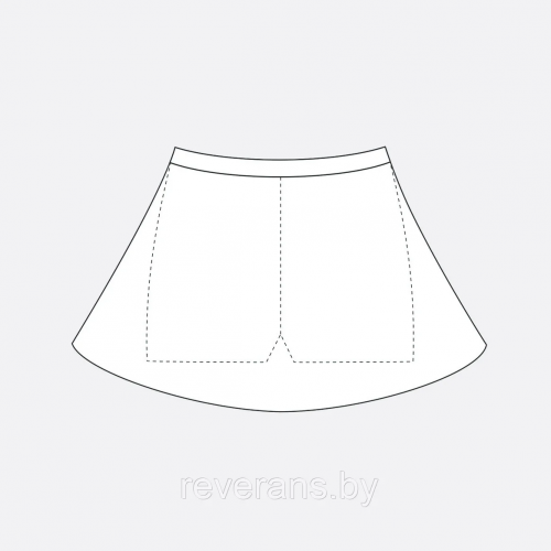 Юбка с шортами арт. 61-10151