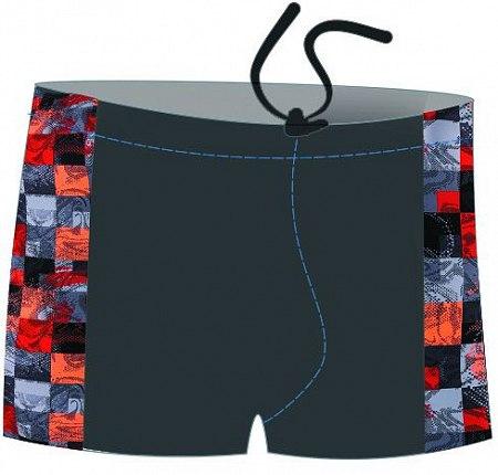 Плавки-шорты мужские для бассейна,с принт. вставками, SM8 11