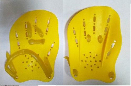 Лопатка для плавания DP 03 желтые , серые . синие