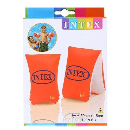 """Нарукавники INTEX надувные """"Large Delux"""" 30 х 15 см, от 6-12 лет"""