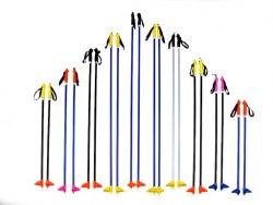 Палки лыжные 105см метал.