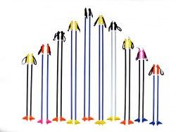 Палки лыжные 160 метал.