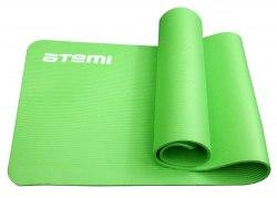 Коврик для йоги и фитнеса Atemi AYM05GN, NBR, 183x61x1,0 см, зелёный